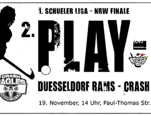 RAMS Schüler 1 vs. Crash Eagles Kaarst, Sonntag 14 Uhr in Niederheid